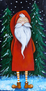 Nikolaus mit dünnen Beinen
